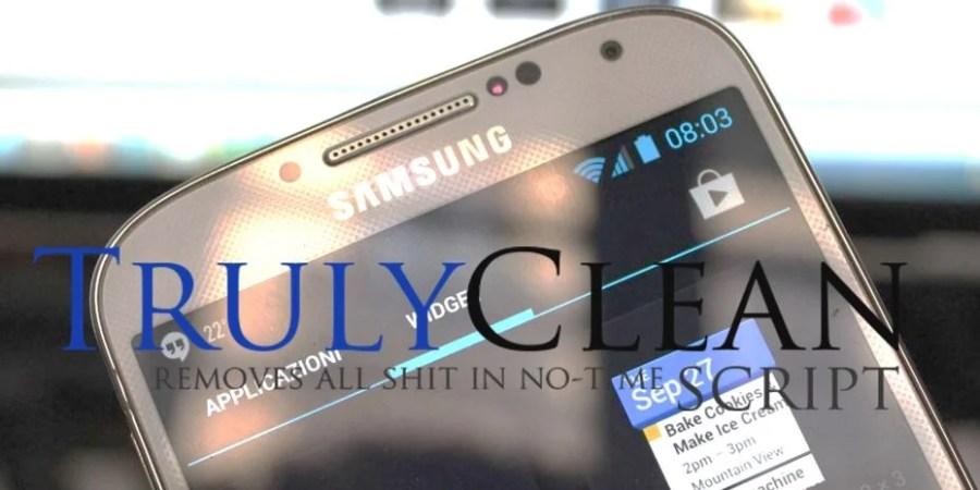 Truly Clean ci aiuterà a tenere pulita la memoria del Galaxy S4
