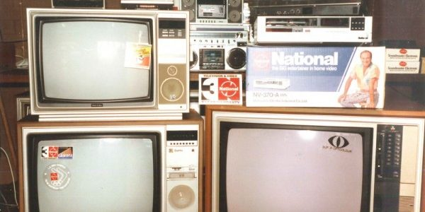1980's with the state of art t.v.'s of the Day.