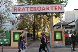 Pratergarten in Berlin im goldenen Herbst