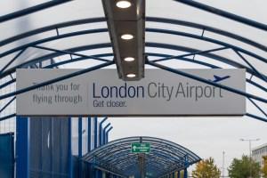 Start des London Wochenende - London City Airport