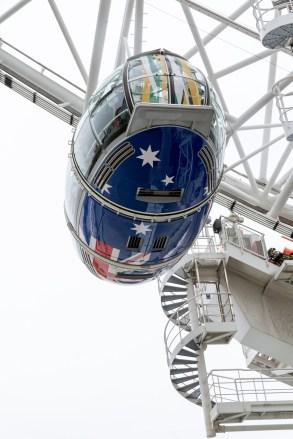 London Eye mit Flaggen - Neuseeland
