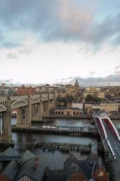 Newcastle bei Tag - die gleiche Sicht wie bei Nacht