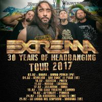 "Extrema a Perugia con ""30 Years of HeadBanging Italian Tour 2017"""