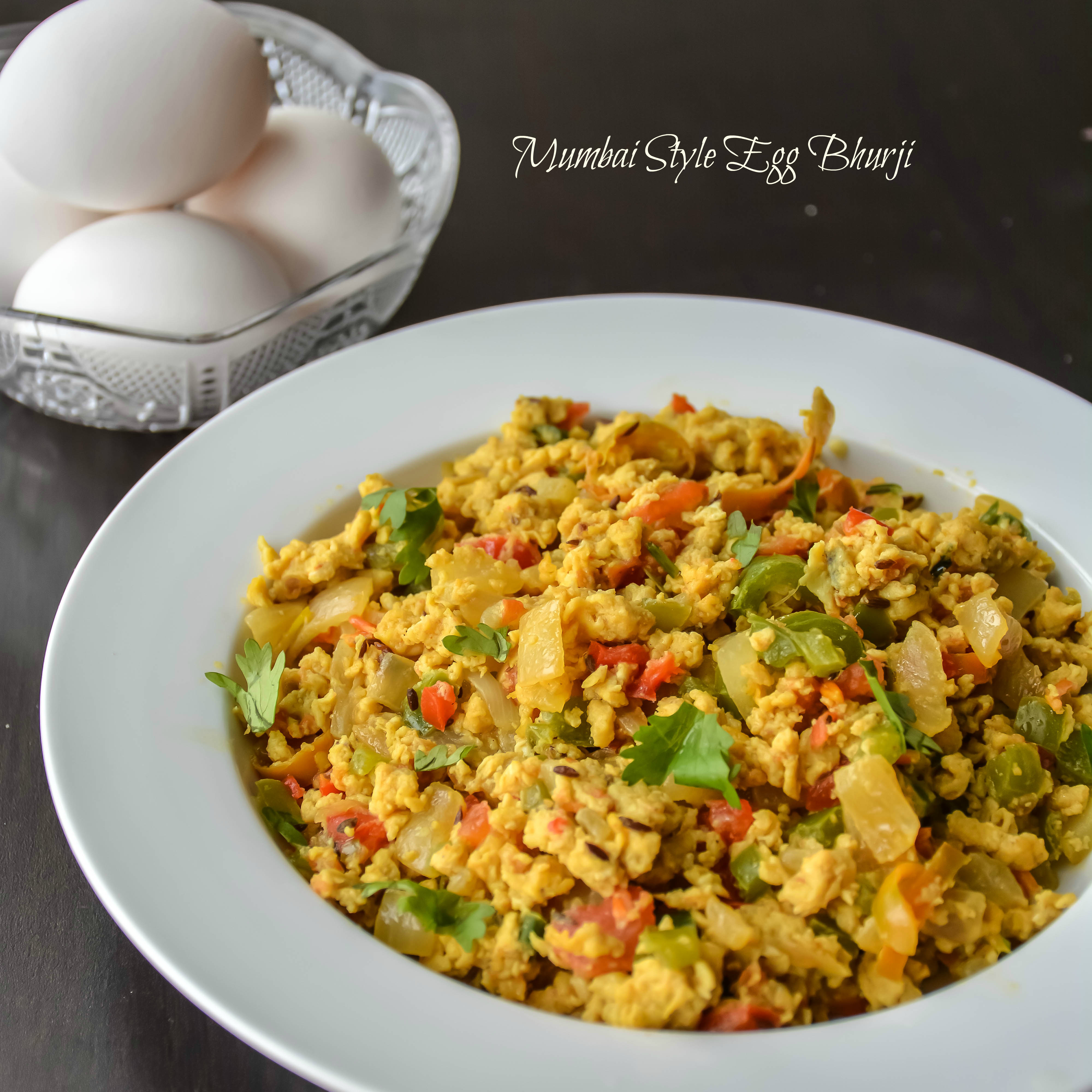 Indian scrambled eggs, spicy and loaded with veggies. Perfect for a ...