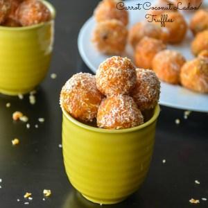 Carrot Coconut Truffles/ Ladoo recipe