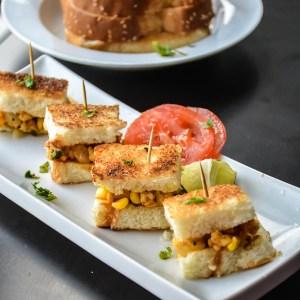 Mini Paneer/Tofu Corn Sandwich