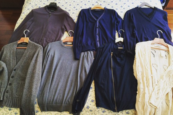 Second-hand knits, all of Italian production,