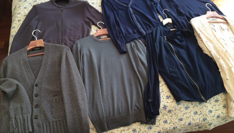 Second-hand sweaters from Bivio: Giorgio Armani, Colombo, Gazzarini, Moschino