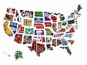 college map of US