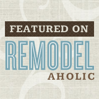 I was featured on Remodelaholic!