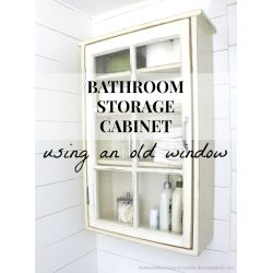Splendiferous Bathroom Storage Cabinet Using An Window Remodelaholic Bathroom Storage Cabinet Using An Window Remodelaholic Bathroom Wall Cabinets