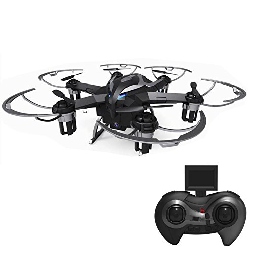 RC Helicopters with HD 720P Camera Remote Control Quadcopter Drone with LED Rechargeable 4CH 6-Axis Gyroscope 2.4 GHz(4G SD Card & SD Card Reader Included)