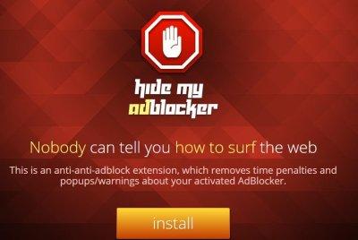Remove Hide My AdBlocker Ads