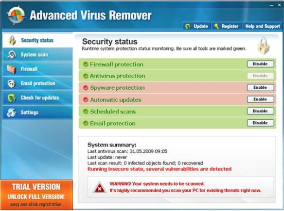 Advanced Virus Remover Removal