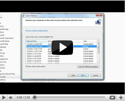 How To DO A System Restore