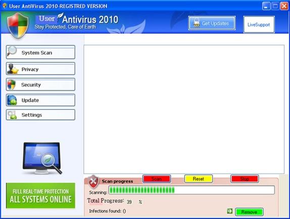 User Antivirus 2010