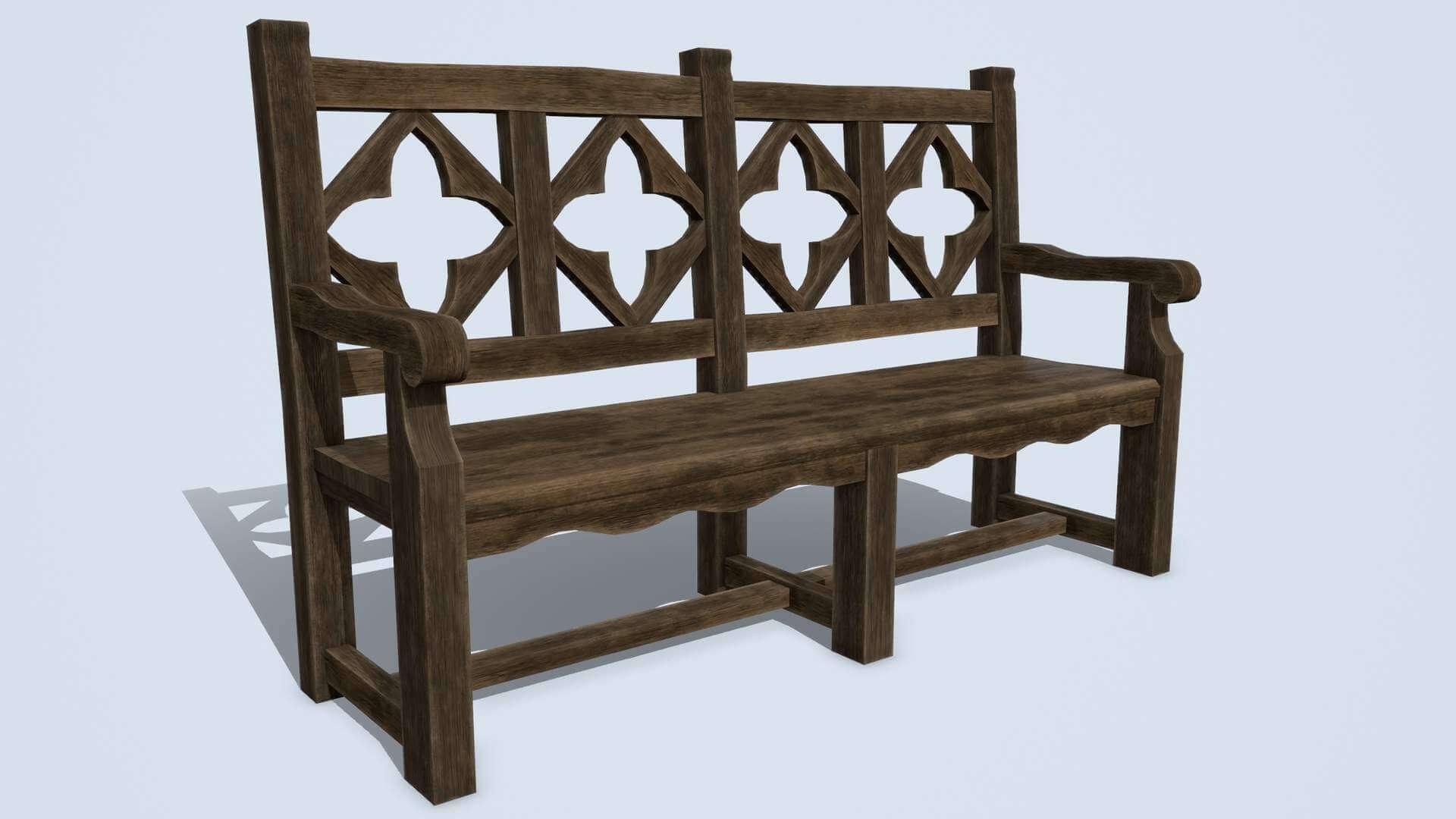 Antique Wooden Bench Set Antique Wooden Bench E38