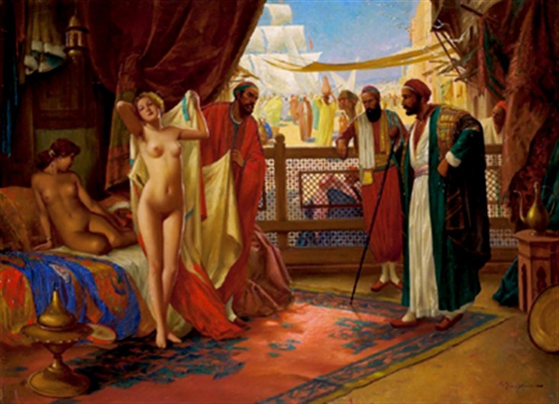 naked slaves market captions