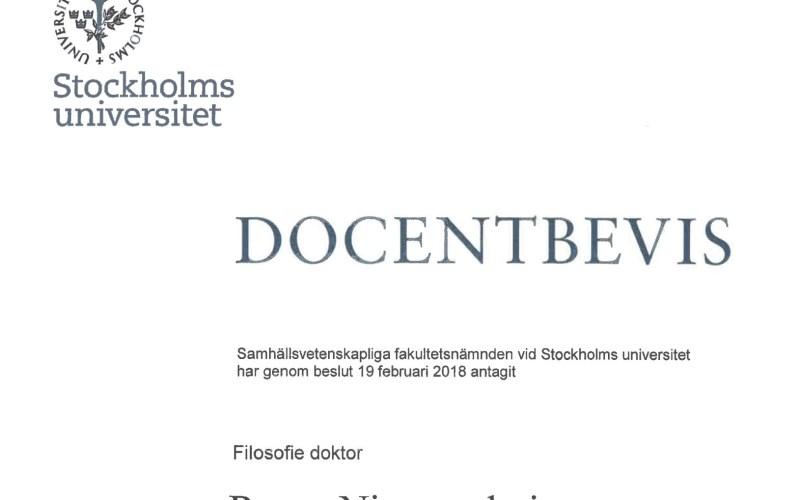 Docentbevis Rense Nieuwenhuis