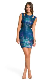 Kaleidoscope Cut Out Dress