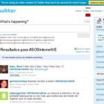 El hashtag o etiqueta #SOSInternetVE, que rechaza la intención del gobierno de Hugo Chávez de regular el contenido en Internet, se ubicó este jueves en el 1er lugar.