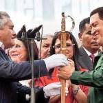 """Marcha desde Catia hasta la plaza O'Leary. El presidente Chávez propuso crear un """"polo patriótico"""" que le asegure su segunda reelección."""