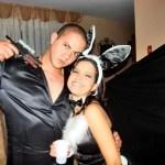 El padre de Oriana Monasterios facilitó esta foto, que fue tomada en un cumpleaños que Giomar le celebró a la joven en su casa.