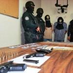 A los detenidos se les incautaron las armas que fueron utilizadas en el ataque al cuerpo de bomberos.