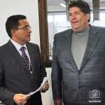 Yánez Rangel y Antonini fueron fotografiados durante una re unión con la empresa Umissa, en Uruguay.