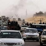 Una parte de la población de Tripoli ha huido consciente de que el avance de las fuerzas opositoras.