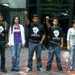 """Estudiantes inician  huelga de hambre acompañados de representantes nacionales de JAVU para exigir la liberación de los presos políticos del estado. """"Libertad"""" para los presos políticos, en especial del general Delfín Parra Gómez."""