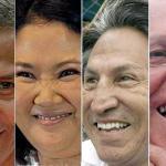 De izquierda a derecha: Ollanta Humala, Keiko Fujimori, Alejandro Toledo y Pedro Pablo Kuczynski.
