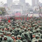 La celebración del segundo aniversario de la milicia el 13 de abril de 2010 en la avenida Bolívar de Caracas significó un costo de 2, 3 millones de bolívares y la participación de 35.000 milicianos,