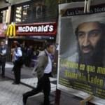 La primera página de un periódico en Santiago, Chile con una fotografía del ex líder de Al Qaeda Osama bin Laden.