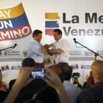 Leopoldo López y Henrique Capriles sellaron ayer un pacto electoral que abarca la unión de sus lemas de campaña.