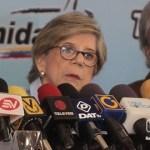 Teresa Albanes, presidenta de la Comisión Electoral de Primarias (CEP) .
