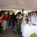 Este domingose celebró una  Eucaristía Ecuménica en las afueras de La Planta, una ceremonia que estuvo llena de consignas políticas a favordel Gobierno.