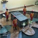 Así quedó el sarcófago con los restos de Chávez en el Museo Militar.