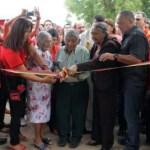 """Felicia Rondón de Cabello, en el acto de inauguración de la casa de los abuelos """"Juana María Cordero de Contreras"""" de la parroquia El Furrial, municipio Maturín."""