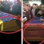 Los dos féretros del funeral de Hugo Chávez