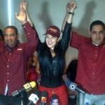 """Jimena Araya """"Rosita"""" es ahora la directora de derechos humanos de Podemos en Aragua."""