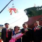 En la foto de izquierda a derecha, el Presidente de Bohai Shipyard Group Co. Yuan Yang; la Consejera Silvia Aular, el Presidente de PDVSA Naval, Ingeniero Héctor Pernía y Manuel Díaz Gerente General de CV shipping Limited.