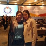 María Gabriela Chávez estuvo en Canadá junto a la Ministra Alejandra Benitez, donde esperaban a que se decidiera si Ciudad Bolívar sería sede de los Juegos Panamericanos.
