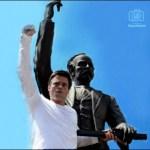 El líder opositor Leopoldo López, que se entregó voluntariamente a las autoridades estatua de marti