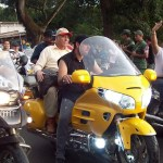 El Alcalde Mayor de Apure Jorge Rodríguez hizo su recorrido en moto