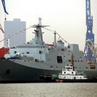 China: tripla lansare de nave militare totalizand peste 32 000 tone