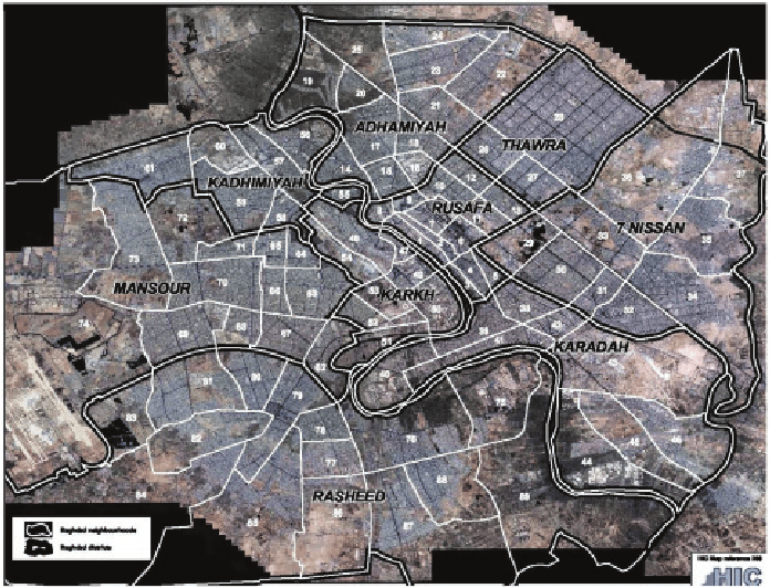 Baghdad security districts  Source   HIC  2003   map reference 280     Source   HIC  2003   map reference 280