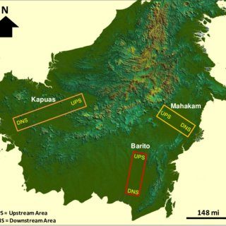 Shuttle Radar Topography Mission  SRTM  of Borneo Island  Study area     Shuttle Radar Topography Mission  SRTM  of Borneo Island  Study area  focuses on three
