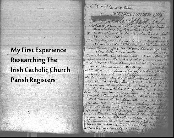 My First Experience Researching the Irish Catholic Church Parish Registers