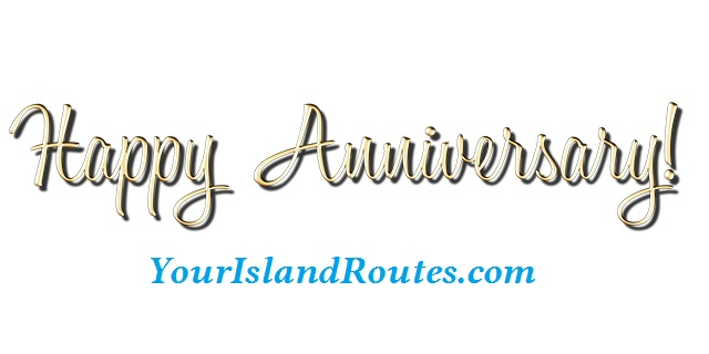It's the 14th Anniversary of YourIslandRoutes.com
